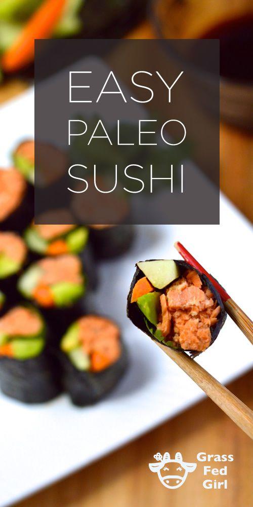 Easy Paleo Sushi | http://www.grassfedgirl.com/low-carb-paleo-sushi-2/