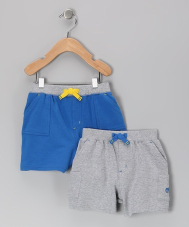 Take a look at this Gray & Blue Surf Van Shorts Set on zulily today!