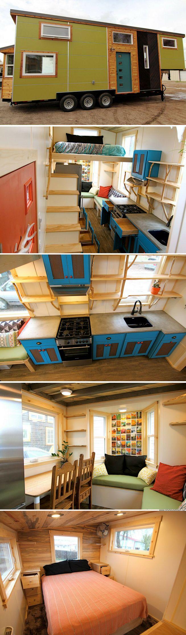 A tiny house built onto a 31' gooseneck trailer
