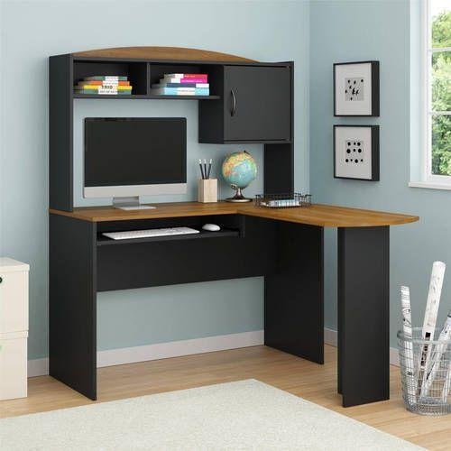 L-Shaped Desk With Hutch PC Desk Laptop Workstation Corner Home Office NEW #1