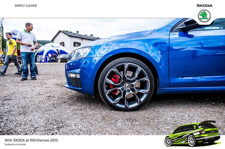 """Wörthersee Treffen 2015 is all about style and passion. Perfect opportunity to showcase awesome alloy wheels on ŠKODA cars! 19"""" Xtreme bicolour Black - Octavia RS #SKODAWoertherse #OctaviaRS"""