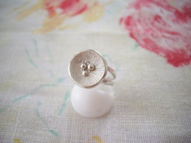 ポピーモチーフシルバーリング Poppy 925SV - Yoko's Jewelry