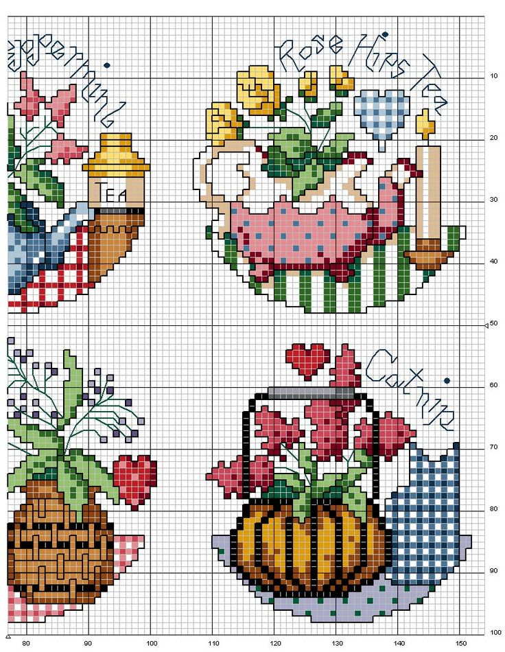 Schematic cross stitch Cooking Spices-4