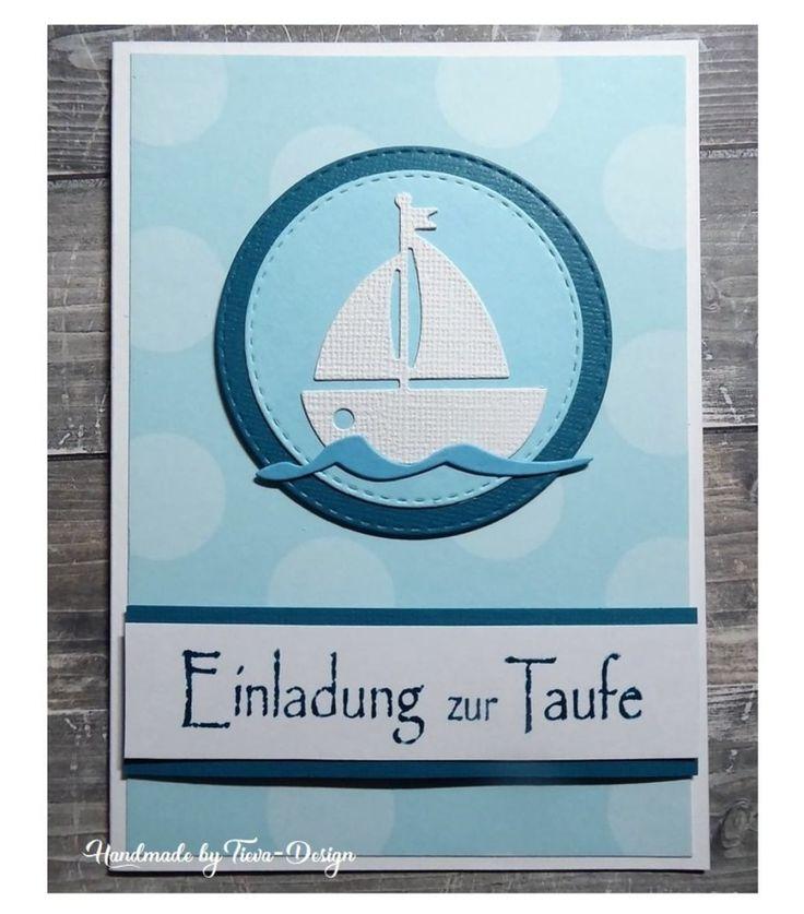Mal nichts Österliches … sondern Einladungen zur Taufe – Invitationcard for c…