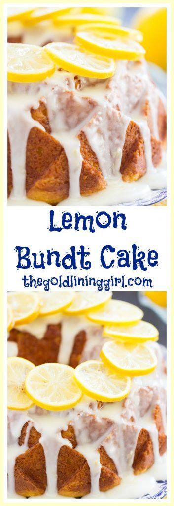 Moist and soft bundt cake, oozing with tangy, sweet lemon glaze, this bright Lemon Bundt Cake is super simple, but with bold lemon flavor!
