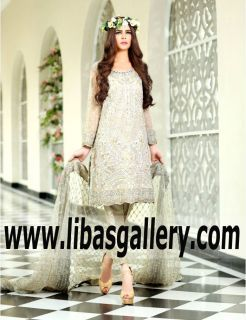 Maria B Spring Special Occasion Dresses for Engagement Brides - Pakistani Indian Dresses for Nikkah Ceremony. Complete Wedding Outfits & Accessory Packages - also for Red Carpet Events, Made to Measure Bespoke Cocktail Evening Wear. www.libasgallery.com #UK #USA #Canada #Australia #France #Germany #SaudiArabia #Bahrain #Kuwait #Norway #Sweden #NewZealand #Austria #Switzerland #Denmark #Ireland #Mauritius #Netherland #SpecialOccasionDress #style #latest #outfits #luxury #fashion #fashionideas
