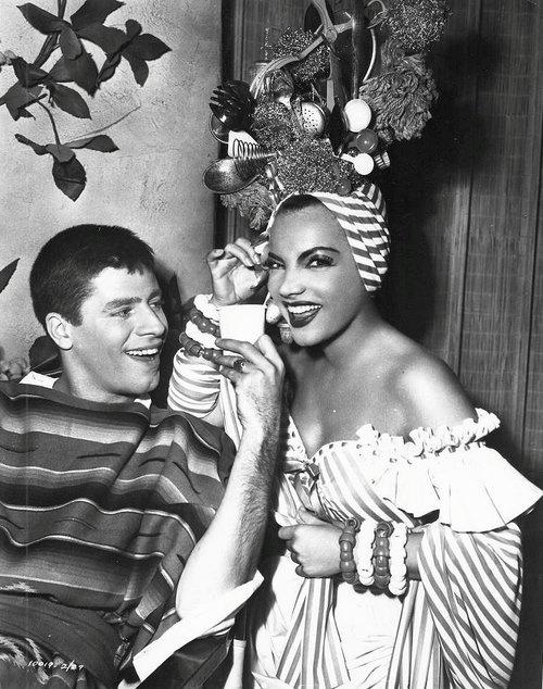 Jerry Lewis & Carmen Miranda