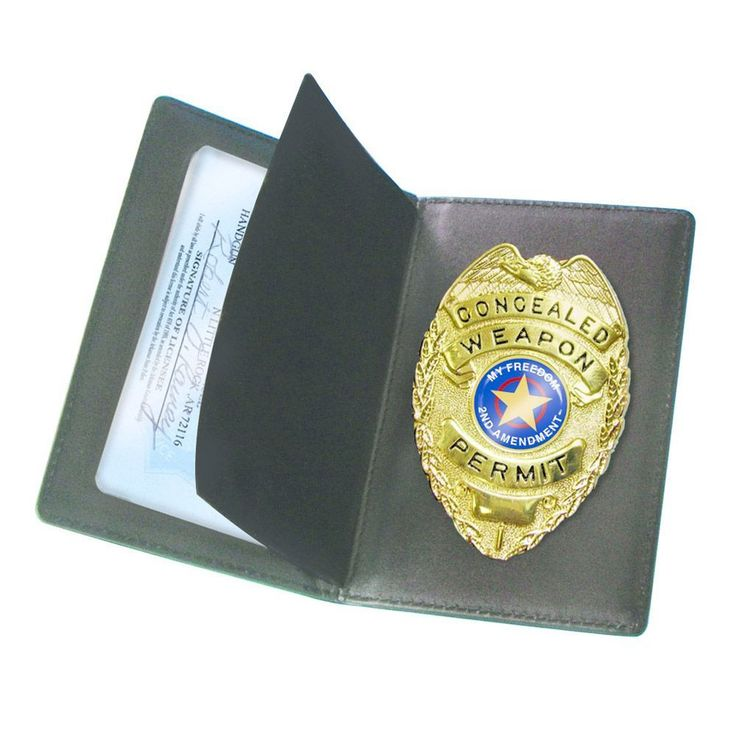 Peace Keeper Leather Concealed Carry Badge & Wallet