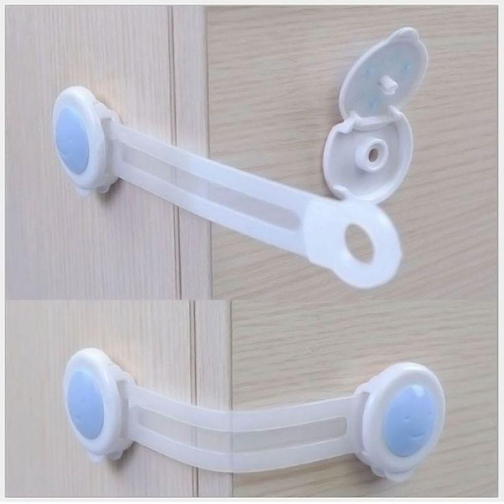 4 stuks lade kast deur koelkast lade box kinderen kids baby veiligheid safe lock #zh052 gratis verzending(China (Mainland))