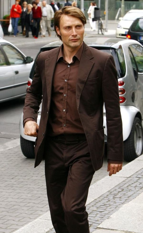 Mads Mikkelsen. How does he manage to look good in every single color???