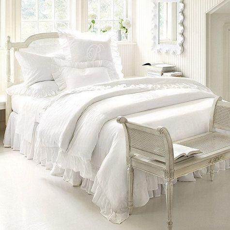 White Ruffled Bedding