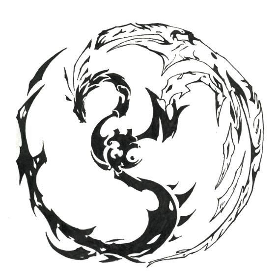 Tribal Dragon Tattoos | ... dragon pour tattoo tatouage dragon tribal tatouage dragon tribal