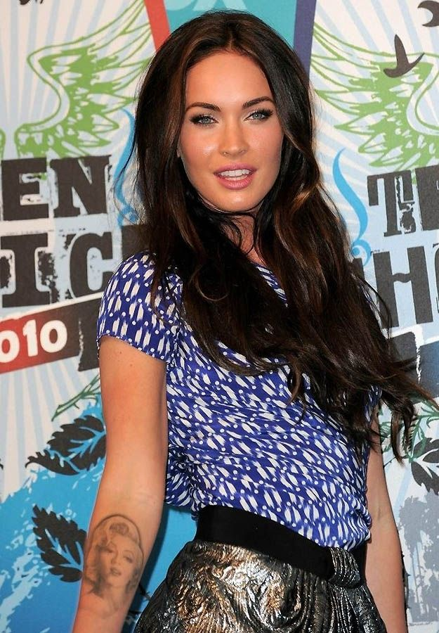 Megan Fox and her Marilyn Monroe tattoo.. Love the placement