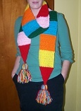 scarf I made its 8 feet long and fun to wear and it keeps you very warm