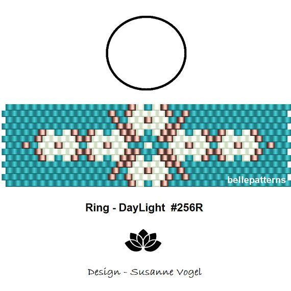 peyote ring patternPDF-Download 256R beading pattern