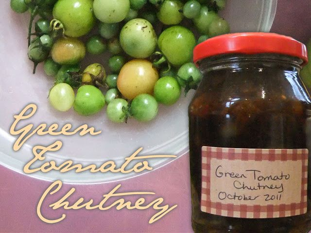 Spicy Green Tomato Chutney Recipe