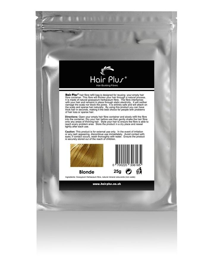 Hair building fibers- Blonde Hair Fibre Refill Bag