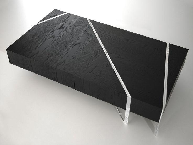 Low rectangular coffee table KRISTAL - Turriniby