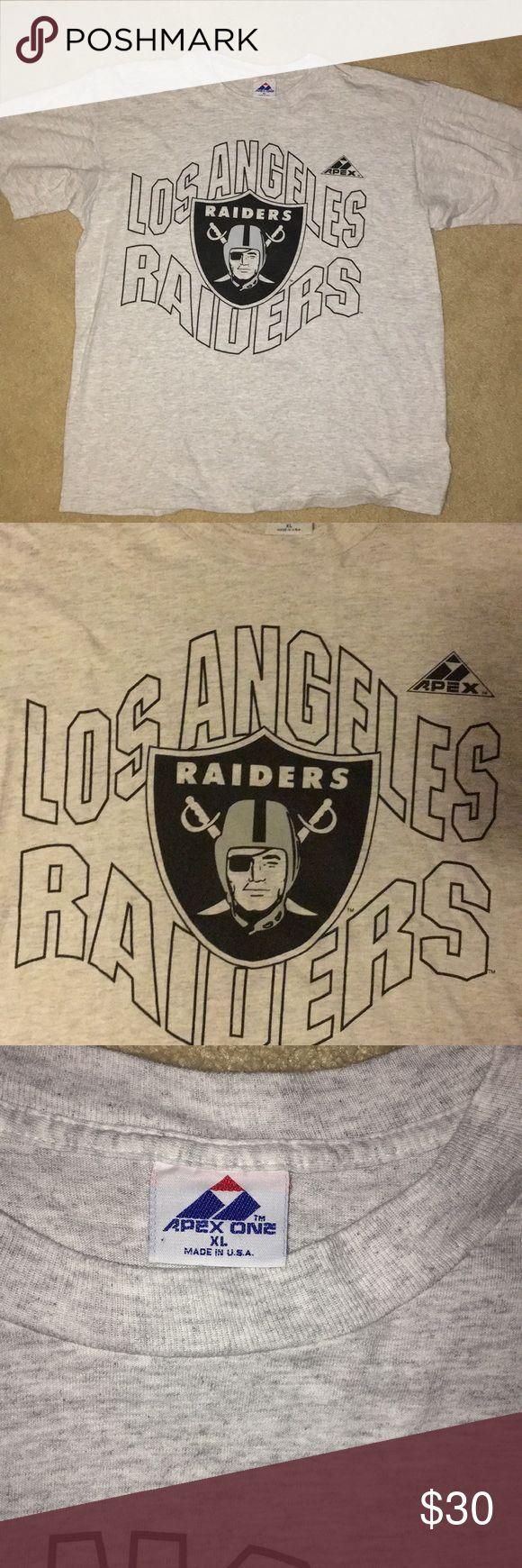 "Los Angeles Raiders Vintage Tshirt Men's Heather gray vintage Los Angeles Raiders Tshirt, size XL, perfect condition by brand ""apex"" . Oakland Raiders, las Vegas Raiders, raiders, Los Angeles, Dodgers. Vintage Shirts Tees - Short Sleeve"