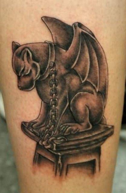 Best 25 gargoyle tattoo ideas on pinterest dark gothic art meaning of gothic and gargoyle for Gothic neck tattoos