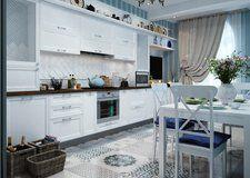 Дизайн квартиры в Евпатории в бело-голубых тонах