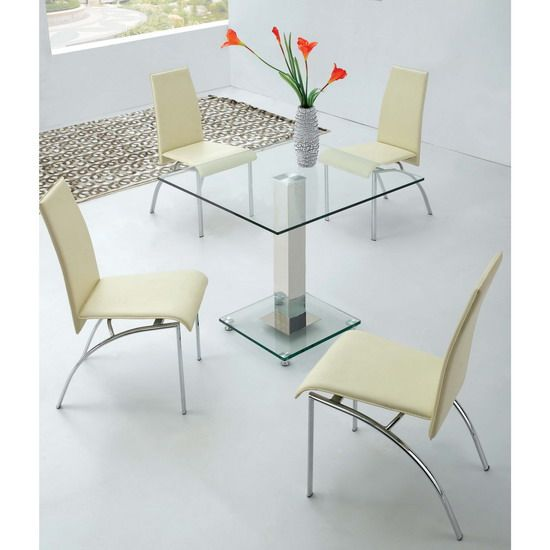 100 best images about 4 seater glass dining sets on for Square glass dining table
