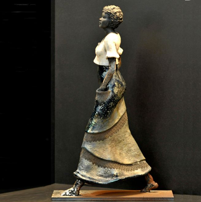 Blandine Destouches sculpture raku métal bois touraine tours artiste