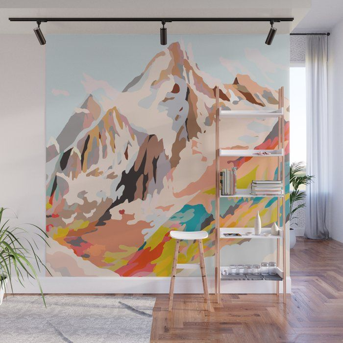 Buy Glass Mountains Wall Mural By Artandghosts Worldwide Shipping Available At Society6 Com Just One Of Millions Of High Quality Wall Murals Painted