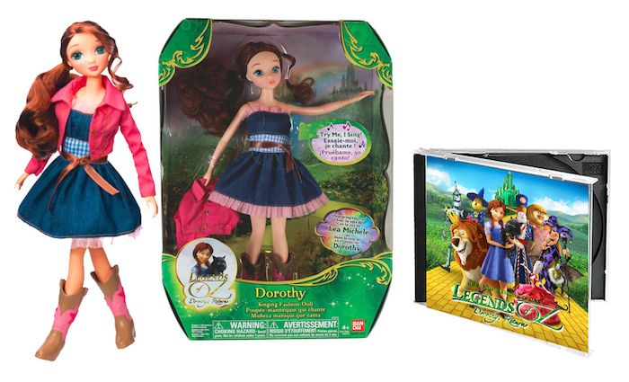 Enter to #win a Legends of Oz Prize Pack that includes Bandai Singing Dorothy Fashion Doll and Legends of Oz: Dorothy's Return Official Soundtrack Ends 05/12