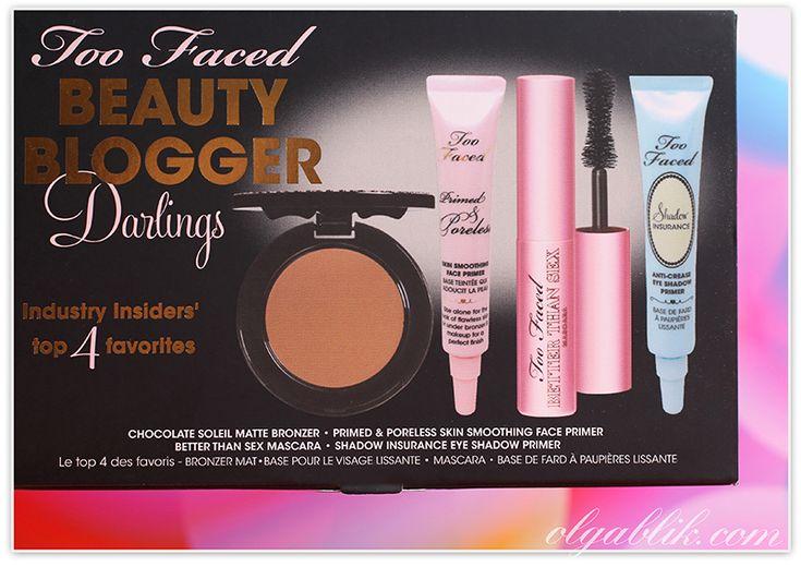 Косметика Too faced/Ту фейст: тушь для ресниц, база под макияж, праймер для век/глаз, матовый бронзер. Отзывы. Фото.Too Faced Beauty Blogger Darlings Set