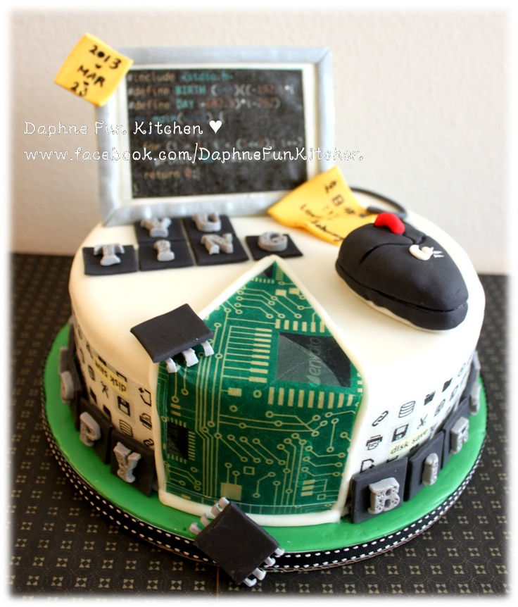Computer science theme cake