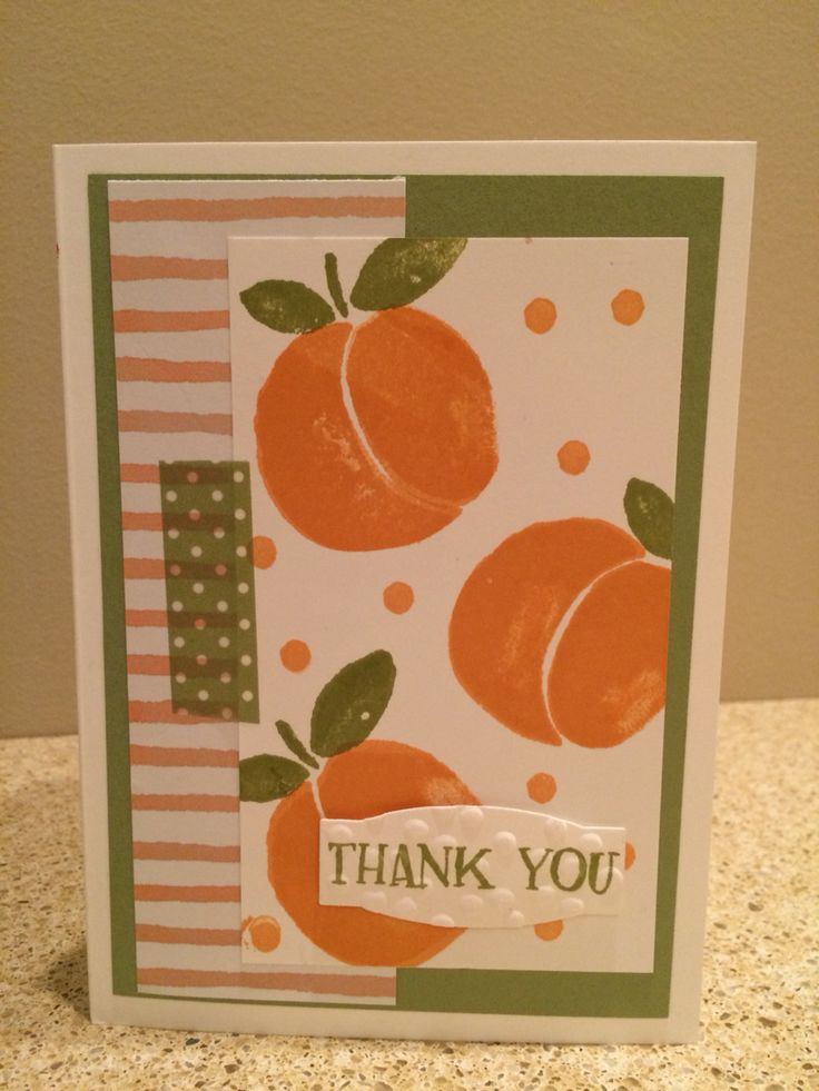Stampin' Up Fresh Fruit stamp set used with Fruit Stand Designer Series Paper.