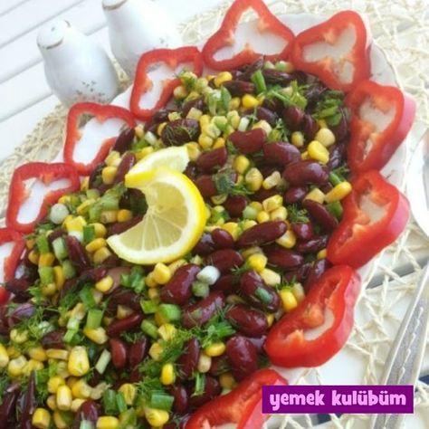 kolay pratik meksika fasulyesi salatası nasıl yapılır tarifi yapılışı, farklı değişik vejetaryen glutensiz laktozsuz diyet diyabetik sağlıklı salata tarifleri