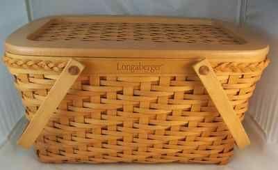 Longaberger 2000 Founders Market Basket Combo W Lid Dave