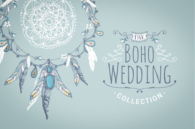 Boho chic wedding & blog collection by Lisa Glanz on Creative Market