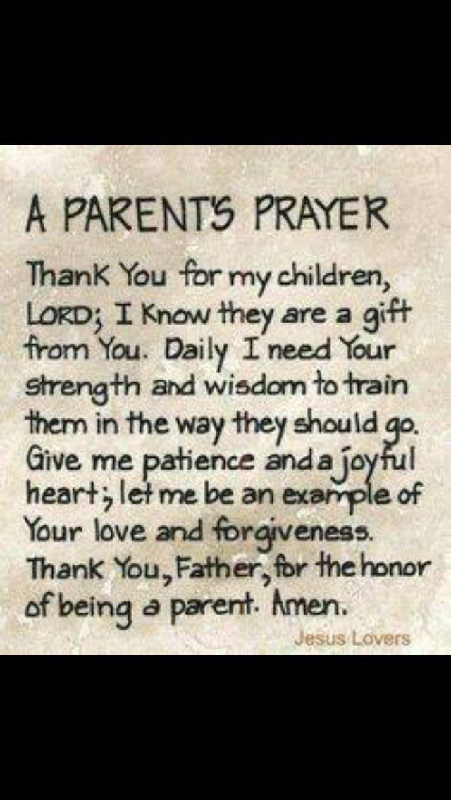 Daily Parents Prayer