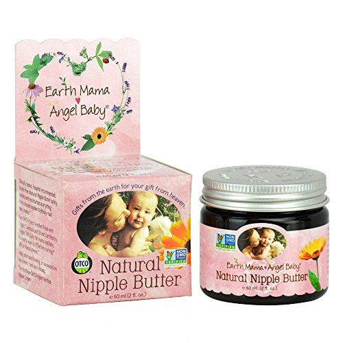 Earth Mama Angel Baby Natural Nipple Butter, 2-Ounce Jars (Pack of 3) Earth Mama Angel Baby