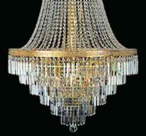 Ogromny żyrandol z kaskadą kryształków w stylu empire / chandelier empire