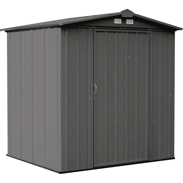 Arrow 6x5 EZEE Metal Storage Shed In Charcoal