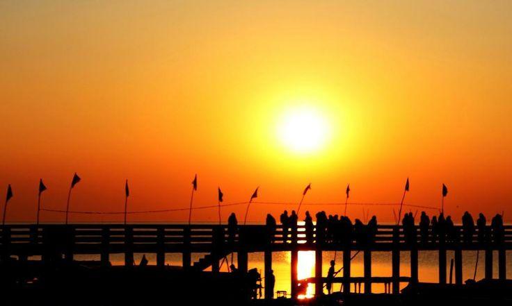 A wonderful sunrise at chilika  lake, Odisha. Tour it with us: http://www.swostihotels.com/