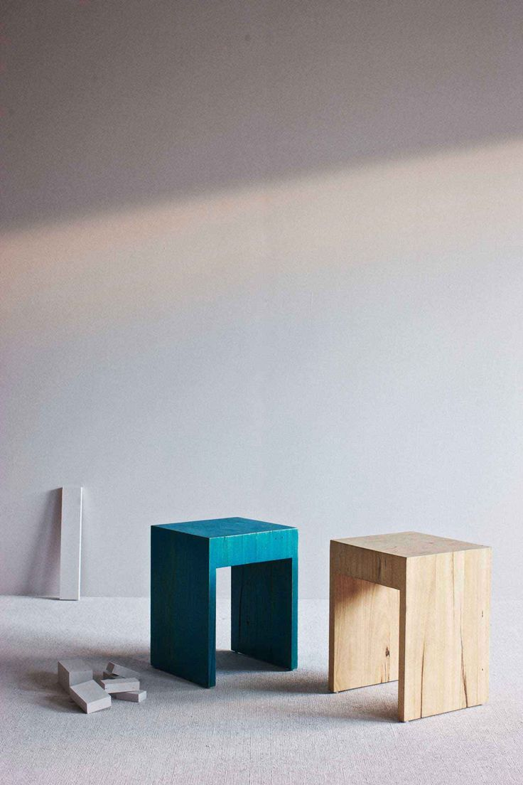 Daniel Barbera Block Stools | http://www.yellowtrace.com.au/interview-daniel-barbera/