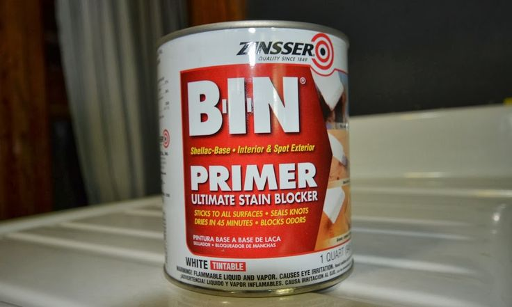 Zinsser BIN Shellac-Base Primer for Painting Ikea Furniture . How to paint Ikea furniture.