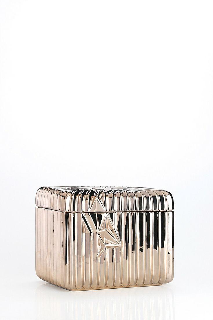 Spectrum Collection - Box, Shiny Warm Silver | www.homelivingceramics.com