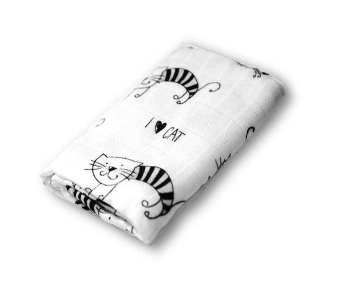 Pieluszka Bambusowa KOTY Bamboo Swaddle Blanket CATS  https://www.fiorino.eu/