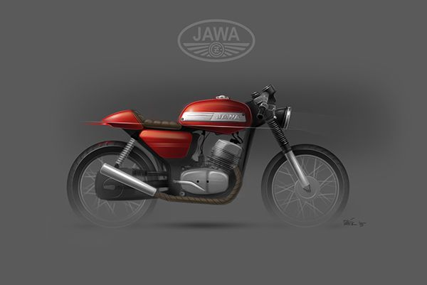 JAWA 350 / 634 cafe racer - custom sketches on Behance