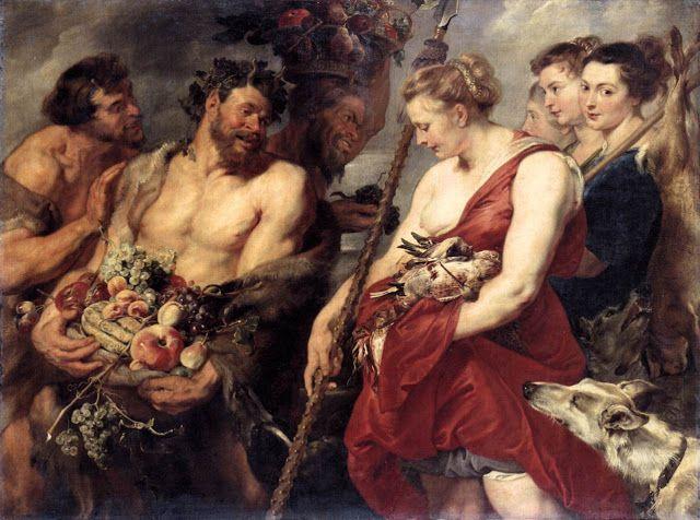 H Aρτεμις επιστρέφοντας απο το κυνήγι. (1615)