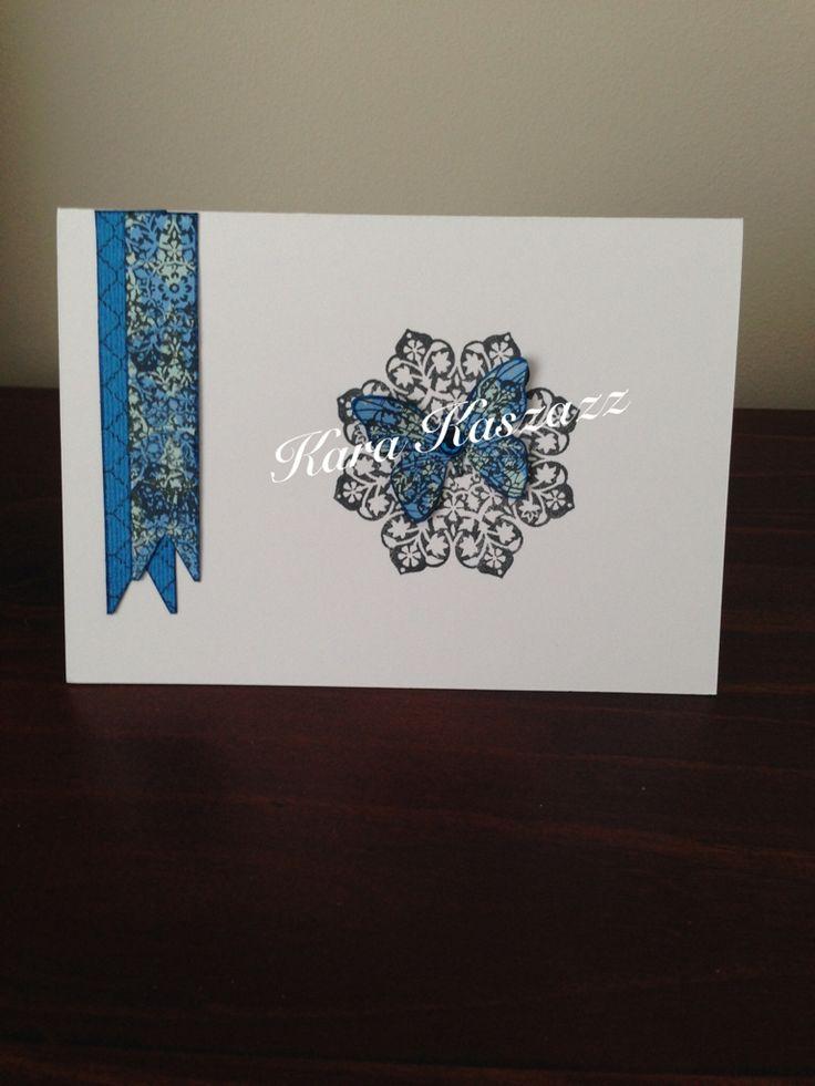 Kaszazz Moroccan Butterfly Card inspired by Cheryl Devlin www.facebook.com/kara.kaszazz