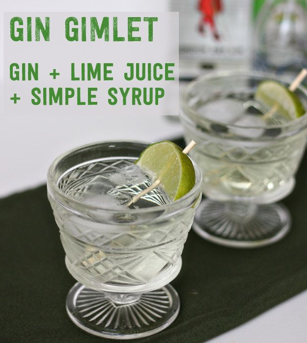 Gimlet: ice cubes to a short glass, 1.5 oz of gin, 1 oz sweetened lime juice and top with soda water