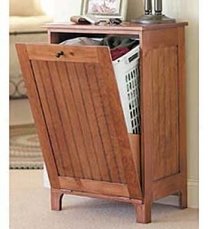 Wood Storage Cabinet With Hamper From Kmart Com Other