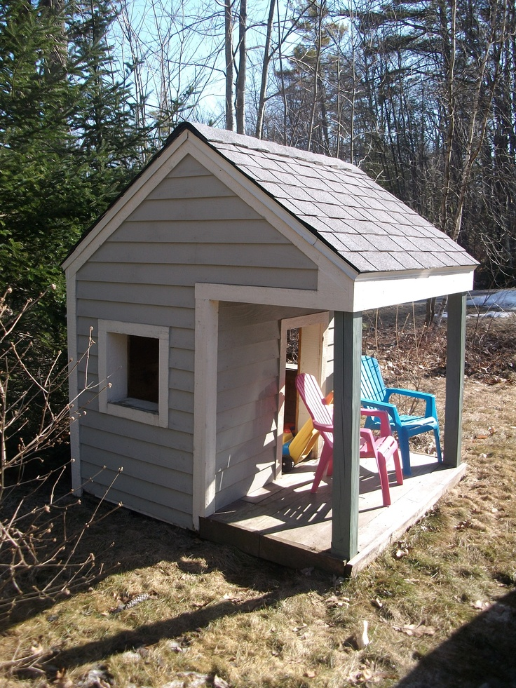 53 best images about kids play houses on pinterest for Shed playhouses